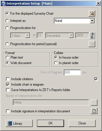 ZET - User's Manual - Synastry